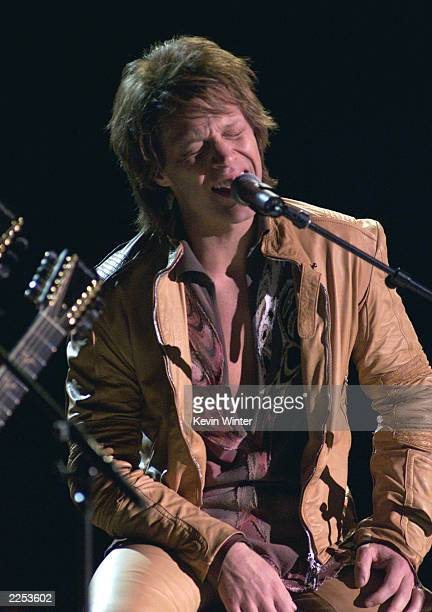 Jon Bon Jovi performs live at the My VH1 Music Awards 2001 at the Shrine Auditorium in Los Angeles CA Sunday Dec 3 2001 Photo by Kevin Winter/Getty...