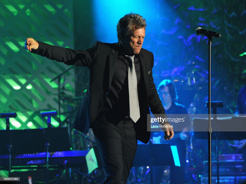 Jon Bon Jovi performs onstage at the Songwriters Hall of Fame 45th Annual Induction and Awards at Marriott Marquis Theater on June 12, 2014 in New York City.