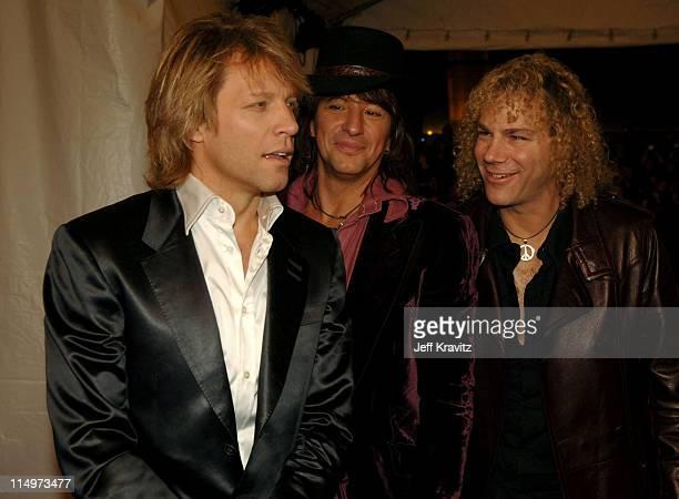 Jon Bon Jovi Richie Sambora and David Bryan of Bon Jovi