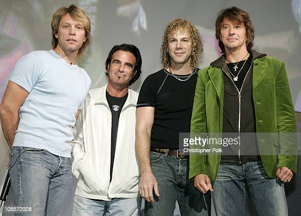 Jon Bon Jovi Tico Torres David Bryan and Richie Sambora of Bon Jovi