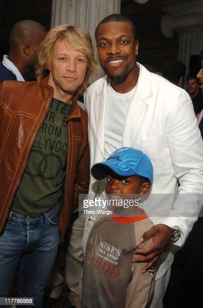 Jon Bon Jovi with Chris Tucker and son Destin Tucker