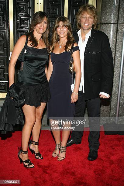 Jon Bon Jovi with wife and daughter during Conde Nast Media Group Kicked off Fashion Week with the Third Annual 'Fashion Rocks' Concert Arrivals at...