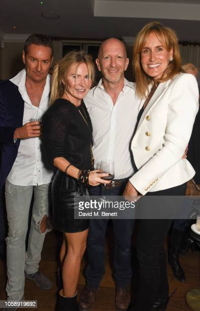 Jon Bond Sam Heyworth Simon Sebag Montefiore and Sandra Sebag Montefiore attend the launch of Imogen EdwardsJones' new book The Witches Of St...