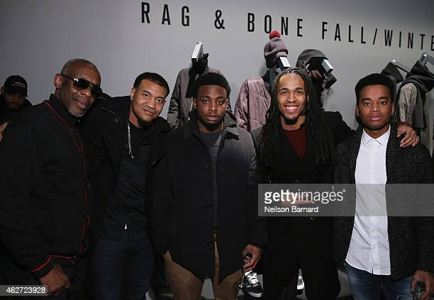 Jon Boogz and guests attend Rag Bone Fall/Winter 2015 Menswear Presentation at Dia Center on February 3 2015 in New York City