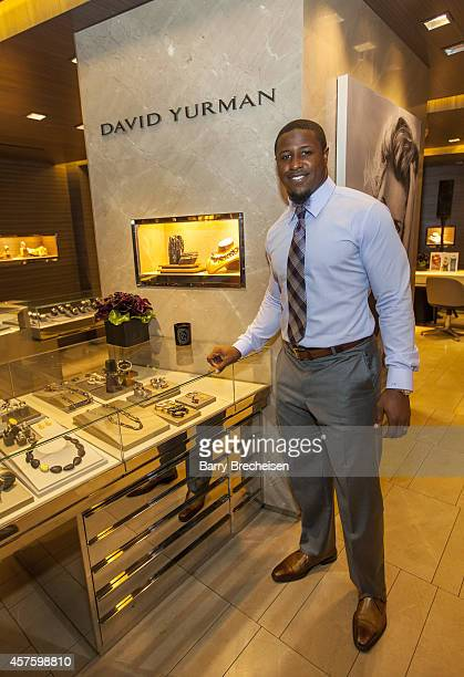 Jon Bostic attends the David Yurman store as host for an instore event to celebrate the launch of the Men's Forged Carbon Collection on October 20...