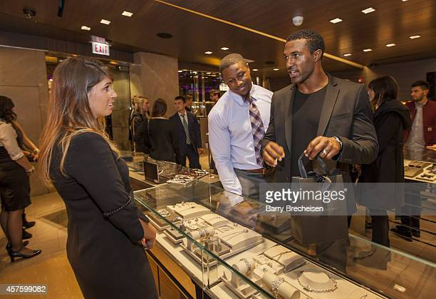 Jon Bostic attends the David Yurman store as host seen here with Ryan Mundy for an instore event to celebrate the launch of the Men's Forged Carbon...
