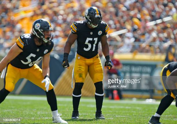 Jon Bostic of the Pittsburgh Steelers in action against the Kansas City Chiefs on September 16 2018 at Heinz Field in Pittsburgh Pennsylvania