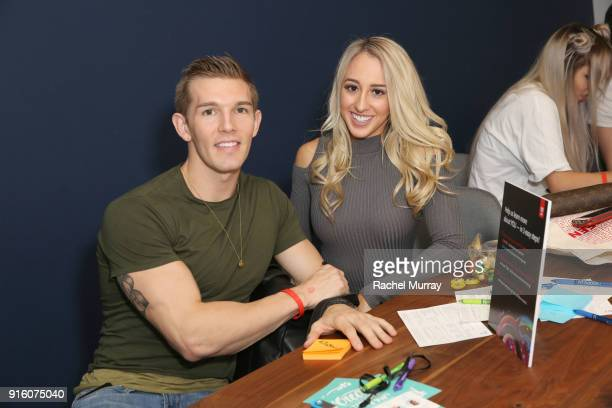 Jon Brownell and Zoe Klopfer visit with ADOBE during Mashup LA influencer event on February 8 2018 in Playa Vista California Photo by Rachel...
