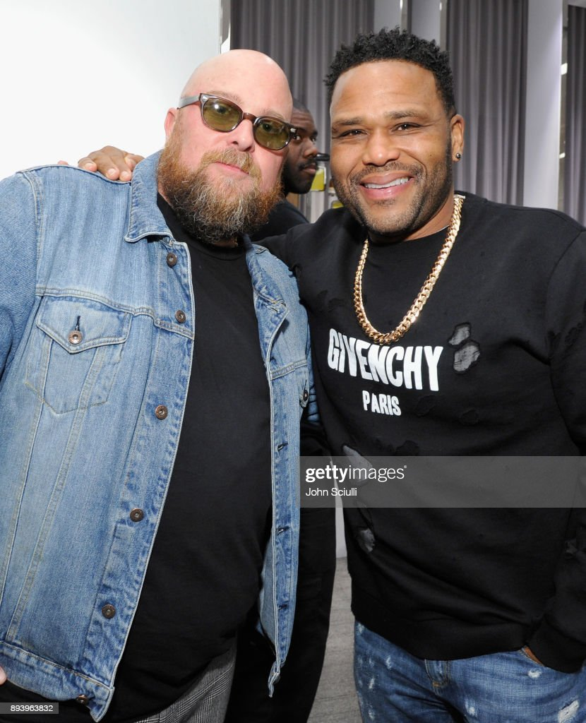 Jon Buscemi and Anthony Anderson attend Buscemi x Quincy Exclusive Launch at Neiman Marcus Beverly Hills on December 16, 2017 in Beverly Hills, California.