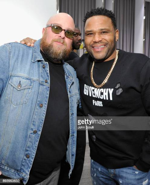 Jon Buscemi and Anthony Anderson attend Buscemi x Quincy Exclusive Launch at Neiman Marcus Beverly Hills on December 16 2017 in Beverly Hills...