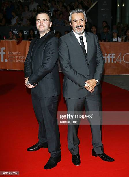 Jon Cassar and Alexis Cassar arrive at the Forsaken premiere during 2015 Toronto International Film Festival held at Roy Thomson Hall on September 16...