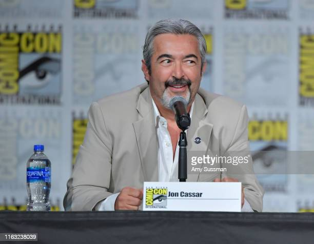 Jon Cassar speaks at The Orville Panel during 2019 ComicCon International at San Diego Convention Center on July 20 2019 in San Diego California