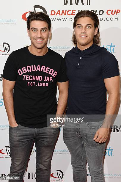 Jon Clark and Chris Clark arrive at the launch of the 2016 annual BLOCH Dance World Cup on April 28 2016 in London England