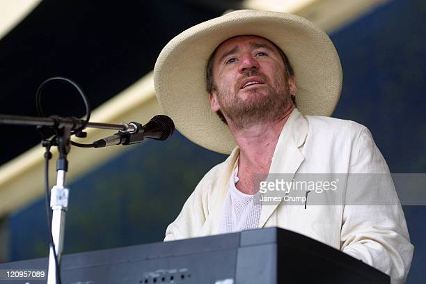Jon Cleary performs at the opening day of the 35th Anniverary of the New Orleans Jazz & Heritage Festival at the New Orleans Fair Grounds.