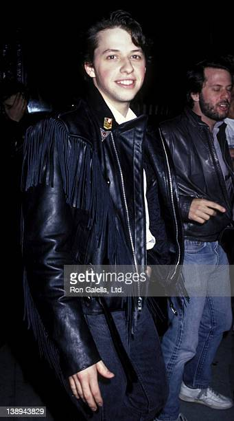 Jon Cryer attends the premiere of 'Top Gun' on May 12 1986 at Loew's Astor Plaza Theater in New York City