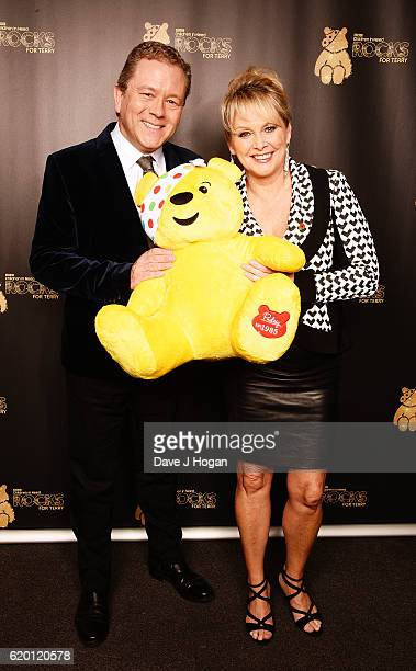 Jon Culshaw and Cheryl Baker support BBC Children in Need Rocks for Terry at Royal Albert Hall on November 1 2016 in London England