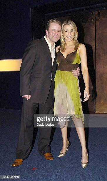 Jon Culshaw and Lara Lewington during Hell's Kitchen II Day 3 Arrivals at 146 Brick Lane in London Great Britain