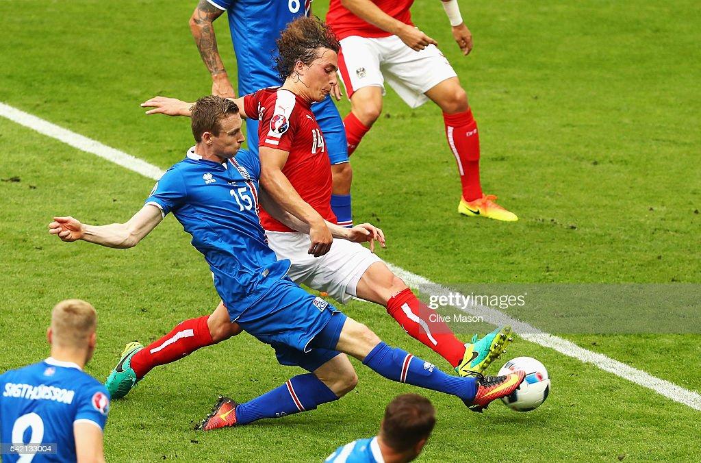 Iceland v Austria - Group F: UEFA Euro 2016 : ニュース写真