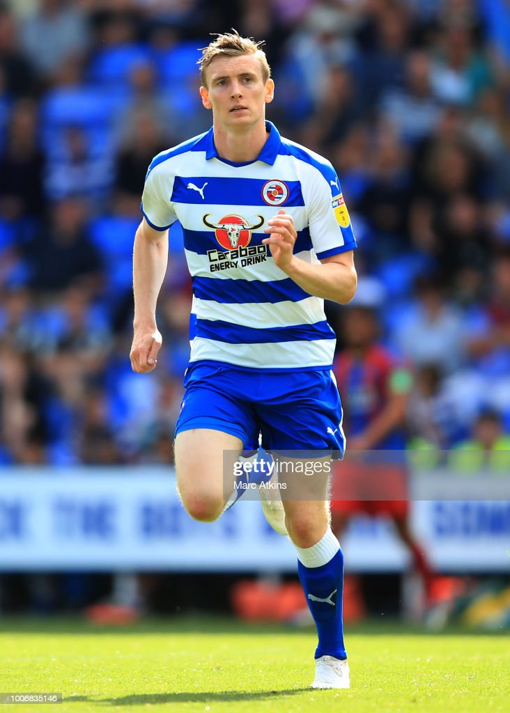 Jon Dadi Bodvarsson of Reading during the Pre-Season Friendly between Reading and Crystal Palace at Madejski Stadium on July 28, 2018 in Reading, England.