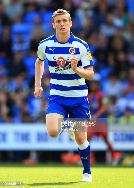 Jon Dadi Bodvarsson of Reading during the PreSeason Friendly between Reading and Crystal Palace at Madejski Stadium on July 28 2018 in Reading England