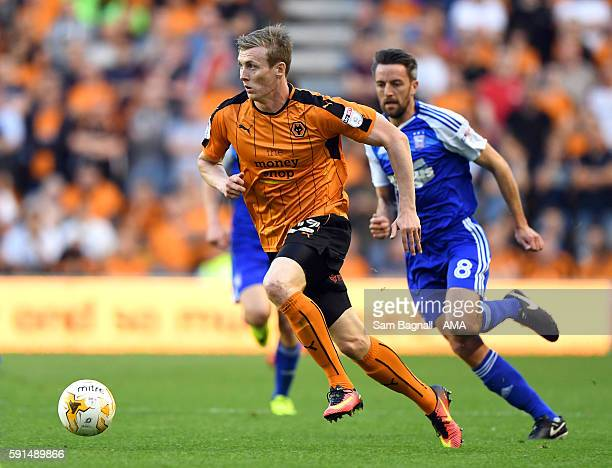 Jon Dadi Bodvarsson of Wolverhampton Wanderers during the Sky Bet Championship match between Wolverhampton Wanderers v Ipswich Town at Molineux on...