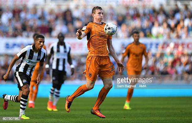 Jon Dadi Bodvarsson of Wolverhampton Wanderers during the Sky Bet Championship match between Newcastle United v Wolverhampton Wanderers at St James'...