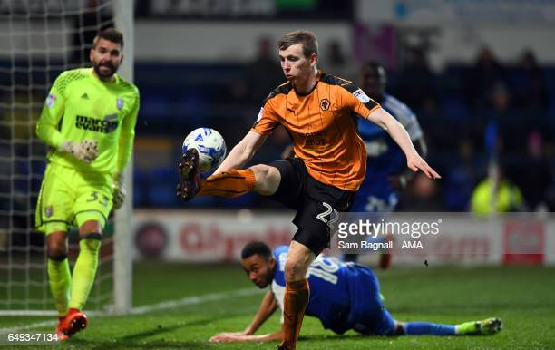 Jon Dadi Bodvarsson of Wolverhampton Wanderers during the Sky Bet Championship match between Ipswich Town and Wolverhampton Wanderers at Portman Road...