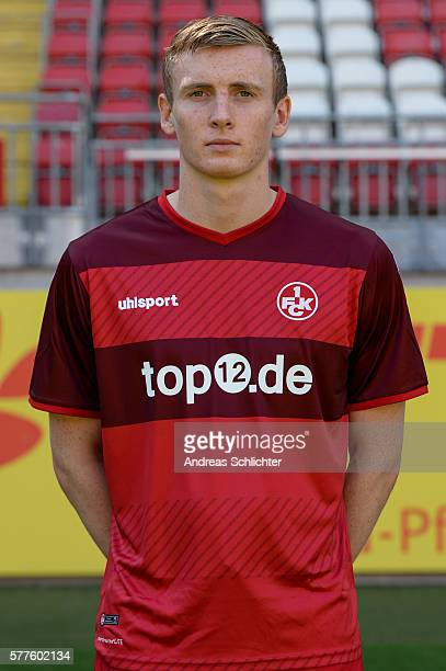 Jon Dadi Boedvarsson poses during the offical team presentation of 1FC Kaiserslautern at FritzWalterStadion on July 19 2016 in Kaiserslautern Germany