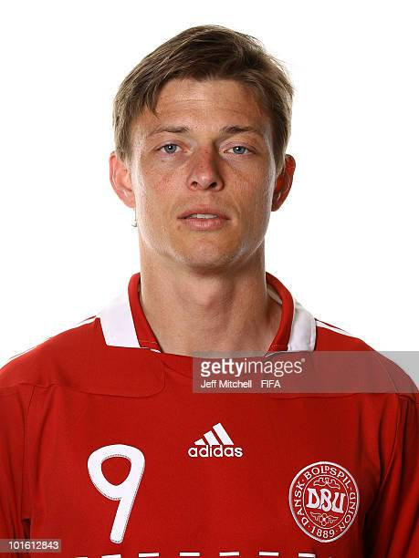 Jon Dahl Tomasson of Denmark poses during the official FIFA World Cup 2010 portrait session on June 3 2010 in Johannesburg South Africa