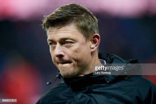 Jon Dahl Tomasson of Denmark prior to the International friendly match between Denmark and Panama at Brondby Stadion on March 22 2018 in Brondby...