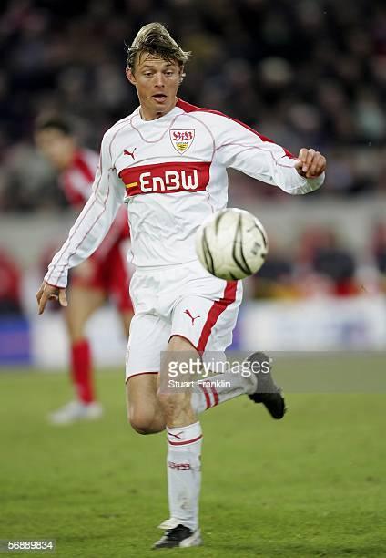 Jon Dahl Tomasson of Stuttgart in action during the Bundesliga match between VfB Stuttgart and Mainz 05 at the GottliebDaimlerStadium on February 19...