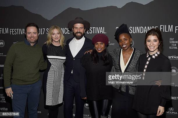 Jon Daly Brett Gelman Nia Long Judy Greer Janicza Bravo and Shiri Appleby attend the 'Lemon' Premiere on day 4 of the 2017 Sundance Film Festival at...