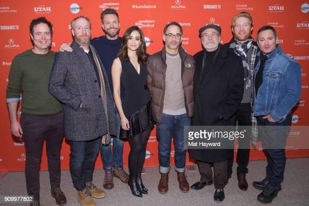 Jon Daly Matt Walsh Joel McHale Emmy Rossum David Wain Martin Mull Domnhall Gleeson and Tom Lennon attend the 2018 Sundance Film Festival premiere of...
