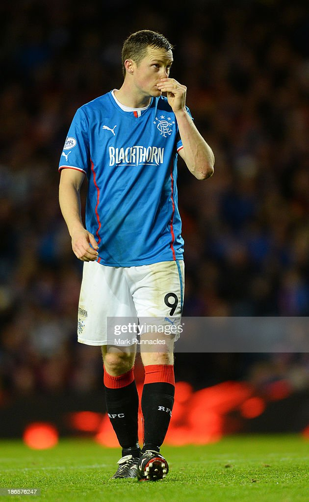 Jon Daly of Rangers during the The William Hill Scottish Cup Third Round match between Rangers and Airdrieonians at Ibrox Stadium on November 1, 2013 in Glasgow, Scotland.