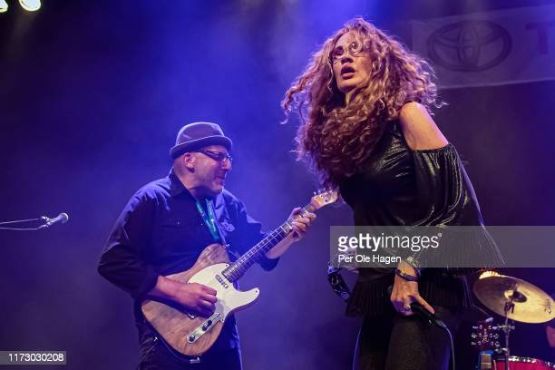 Jon Diamond and Dana Fuchs perform on stage at the Blues in Hell Festival on September 7 2019 in Stjordal Norway