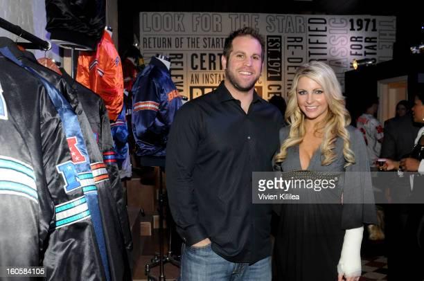 Jon Dorenbos and Julie Dorenbos attend Starter Parlor Super Bowl XLVII on February 2 2013 in New Orleans Louisiana