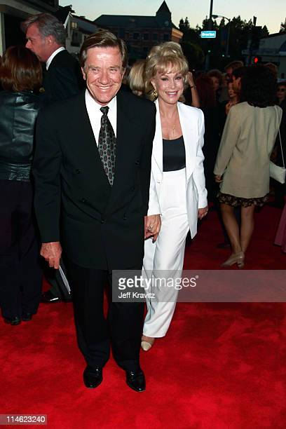 Jon Eicholtz and Barbara Eden during Screening of HBO's The Burning Season at Mann's Bruin Theater in Westwood CA United States