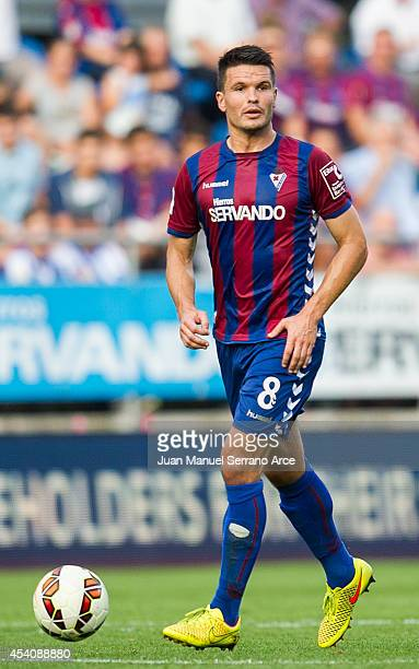 Jon Errasti of SD Eibar controls the ball during the La Liga match between SD Eibar and Real Sociedad at Ipurua Municipal Stadium on August 24 2014...