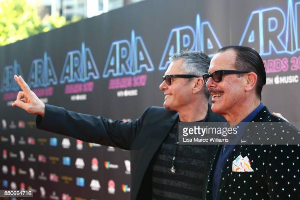 Jon Farriss and Kirk Pengilley of INXS arrive for the 31st Annual ARIA Awards 2017 at The Star on November 28 2017 in Sydney Australia