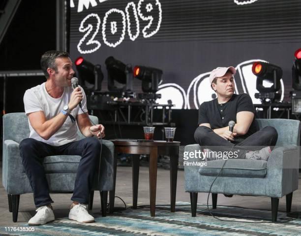 Jon Favreau and Jon Lovett, speak during the 2019 Life Is Beautiful Festival – Fremont Stage - Day 3 on September 22, 2019 in Las Vegas, Nevada.