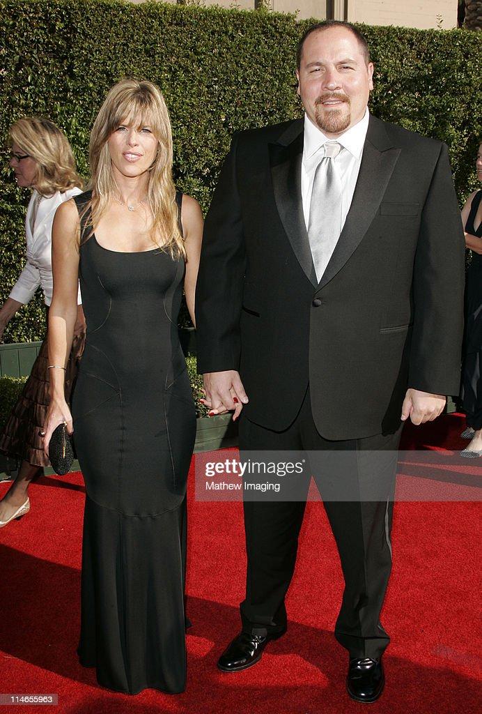 Jon Favreau and Joya Tillem during 57th Annual Primetime Creative Arts EMMY Awards - Arrivals & Red Carpet at Shrine Auditorium in Los Angeles, California, United States.