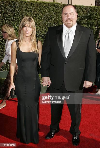 Jon Favreau and Joya Tillem during 57th Annual Primetime Creative Arts EMMY Awards Arrivals Red Carpet at Shrine Auditorium in Los Angeles California...