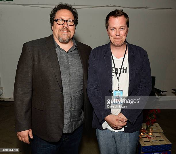 "Jon Favreau and Tom Parker Bowles attend the European premiere for ""Chef"" at The Old Truman Brewery on June 9, 2014 in London, England."
