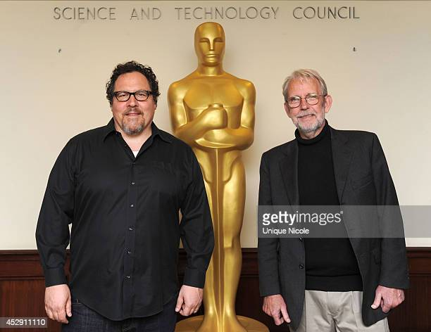 """Jon Favreau and Walter Murch attend The Academy Probes """"Movies In Your Brain"""" at Linwood Dunn Theater at the Pickford Center for Motion Study on July..."""