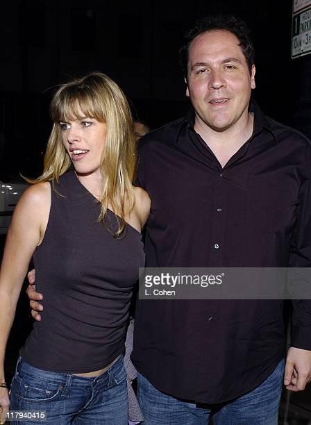 Jon Favreau and wife Joya Tillem during Wimbledon World Premiere Green Carpet Arrivals at Samuel Goldwyn Theater in Beverly Hills California United...