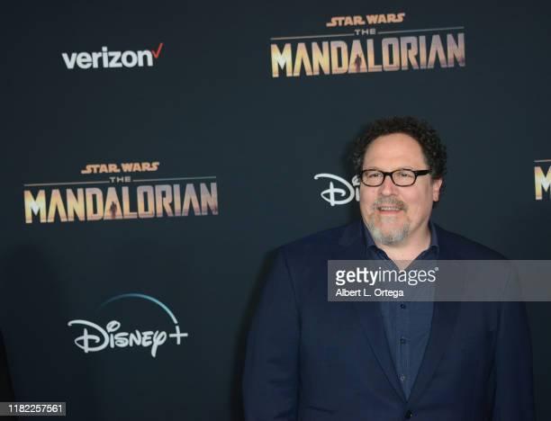 "Jon Favreau arrives for the Premiere Of Disney+'s ""The Mandalorian"" held at El Capitan Theatre on November 13, 2019 in Los Angeles, California."
