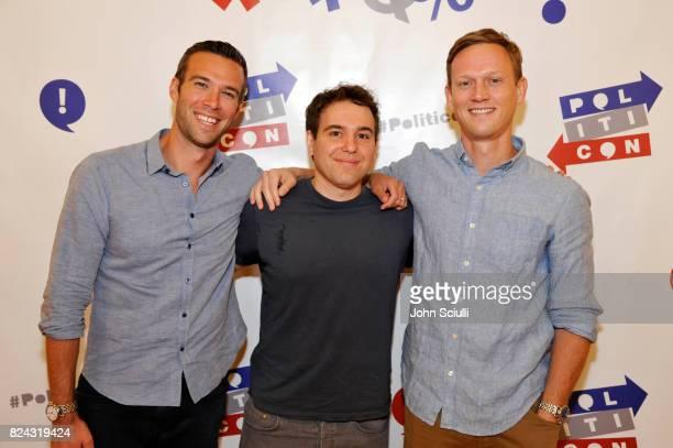 Jon Favreau, Jon Lovett, and Tommy Vietor at Politicon at Pasadena Convention Center on July 29, 2017 in Pasadena, California.