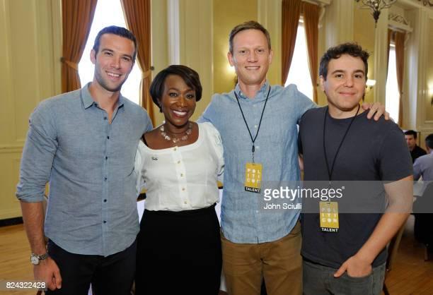 Jon Favreau, Joy-Ann Reid, Tommy Vietor, and Jon Lovett at Politicon at Pasadena Convention Center on July 29, 2017 in Pasadena, California.