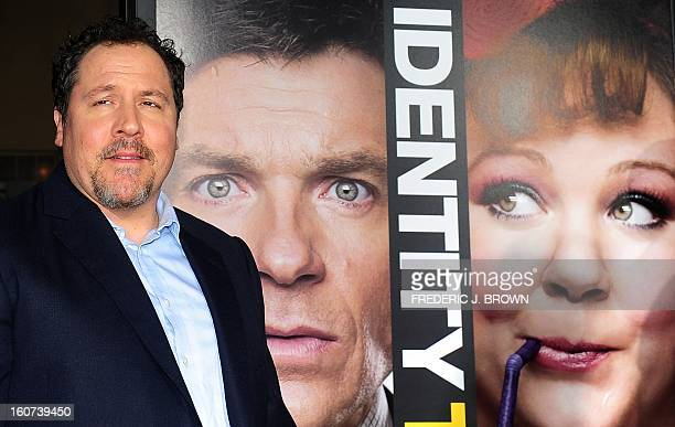 Jon Favreau poses on arrival for the World Premiere of the film 'Identity Thief' in Los Angeles, California, on February 4, 2013. The films opens...