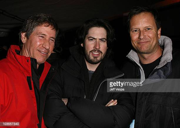 Jon Feltheimer, actor Jason Reitman and Michael Burns attend the William Morris Party at The Shop on January 21, 2008 in Park City, Utah.